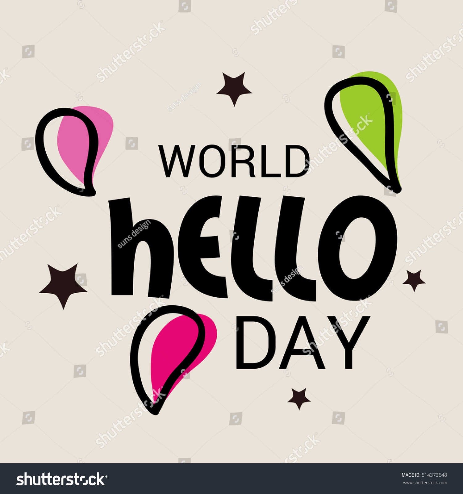 World Hello Day: Vector Illustration Of A Banner For World Hello Day