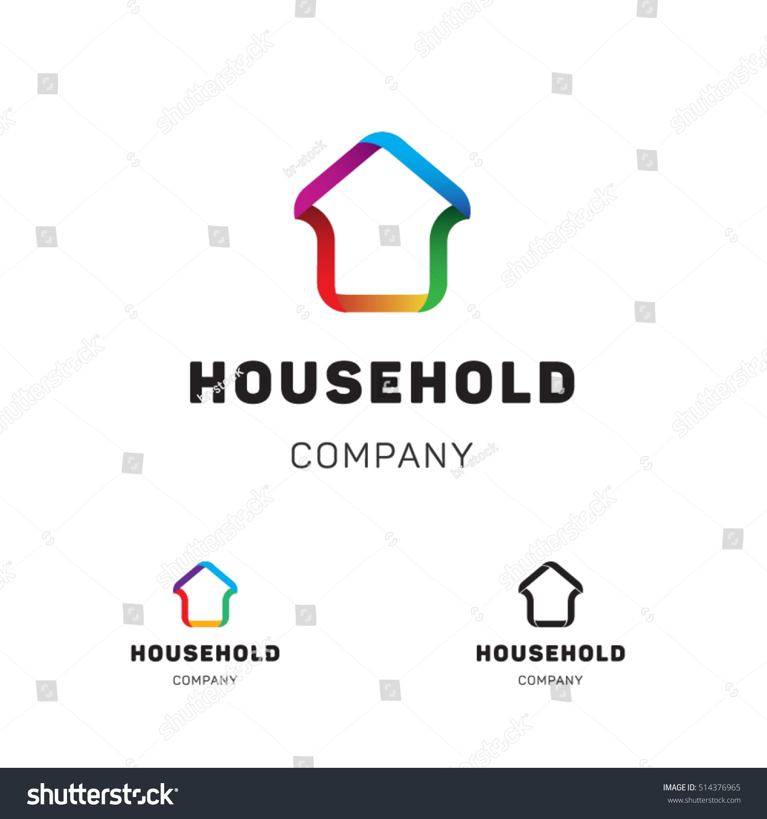 House Hold Vector Logo Template Business Stock Vector (Royalty Free ...