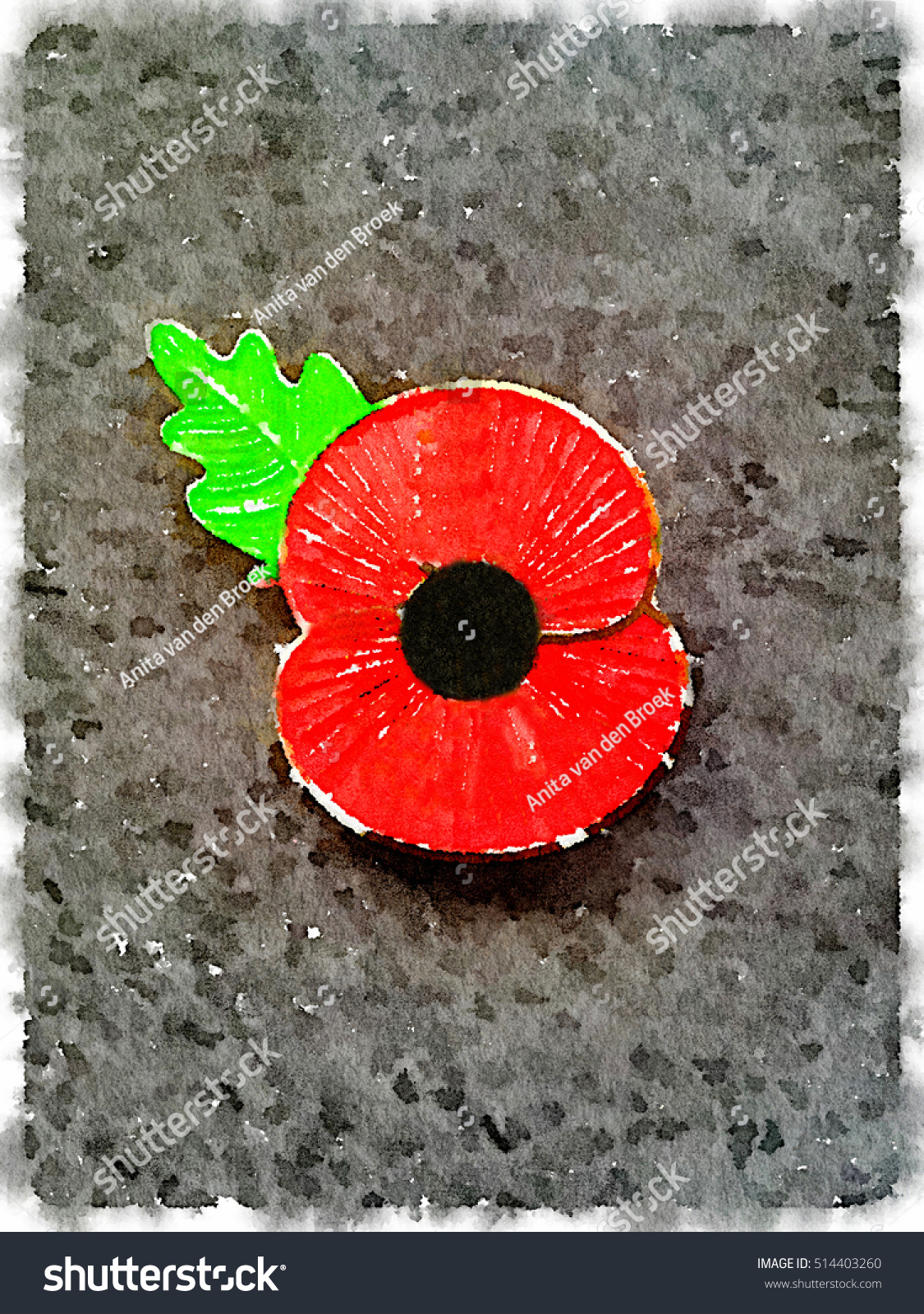 Royalty free stock illustration of digital watercolor painting poppy digital watercolor painting of a poppy badge lest we forget poppy worn for remembrance mightylinksfo