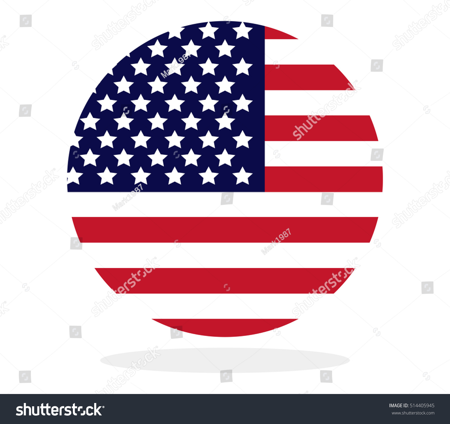 us flag shape circle stock vector 514405945 shutterstock rh shutterstock com us flag graphic images us flag vector graphic