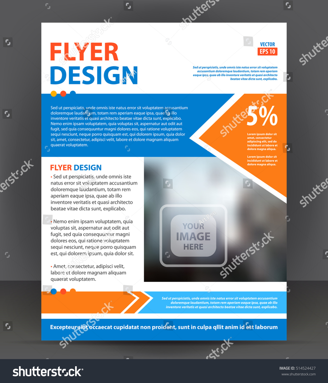 Abstract flyer brochure cover layout design print template – Pamphlet Layout