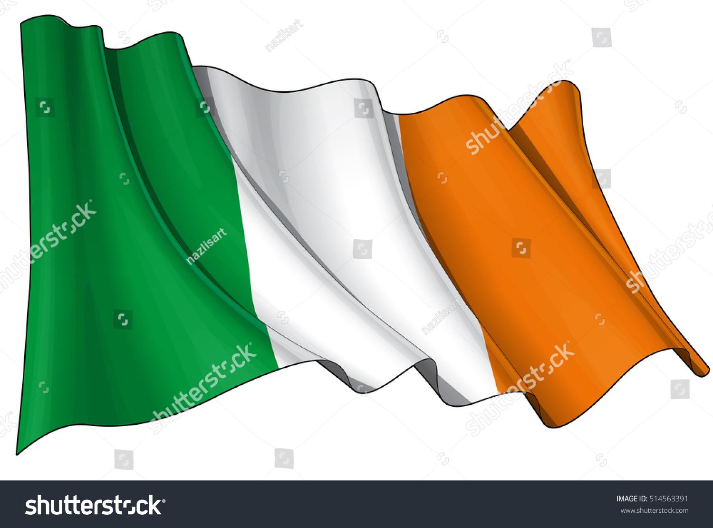 vector illustration irish waving flag all stock vector 514563391