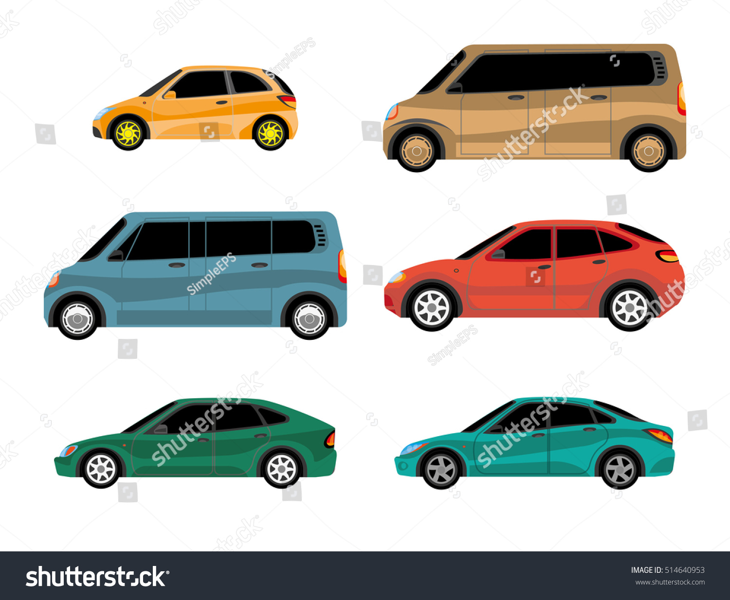 Design cars different types body painting stock vector for Different types of paint for art