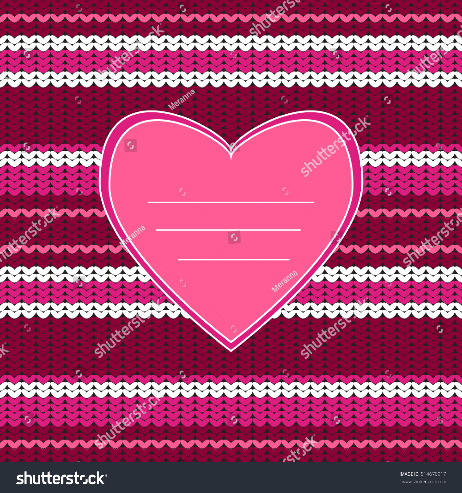 Amazing Knitted Texture Heart Knitting Seamless Stock Vector HD ...