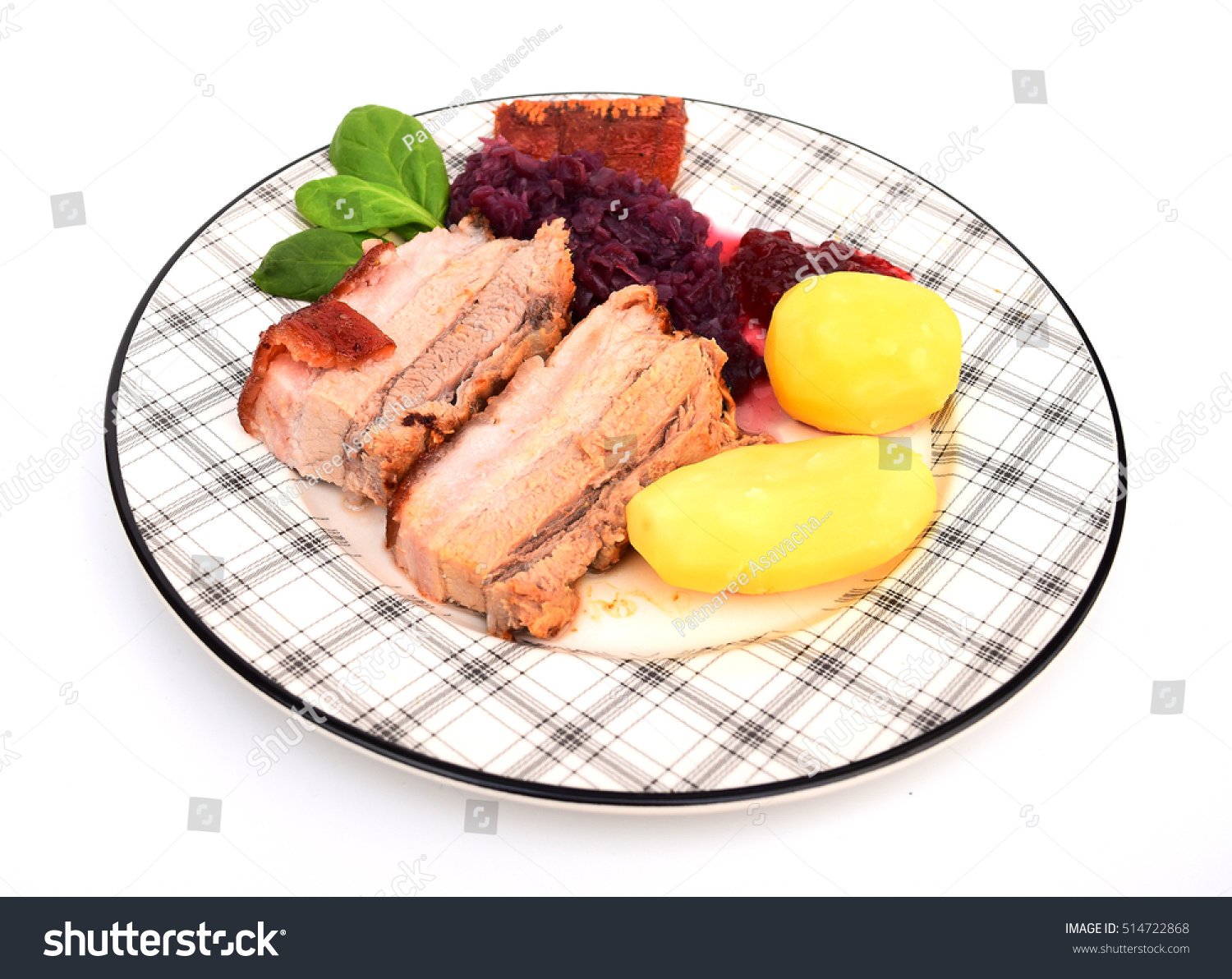 Traditional Norwegian Christmas Dinner Stock Photo (Royalty Free ...