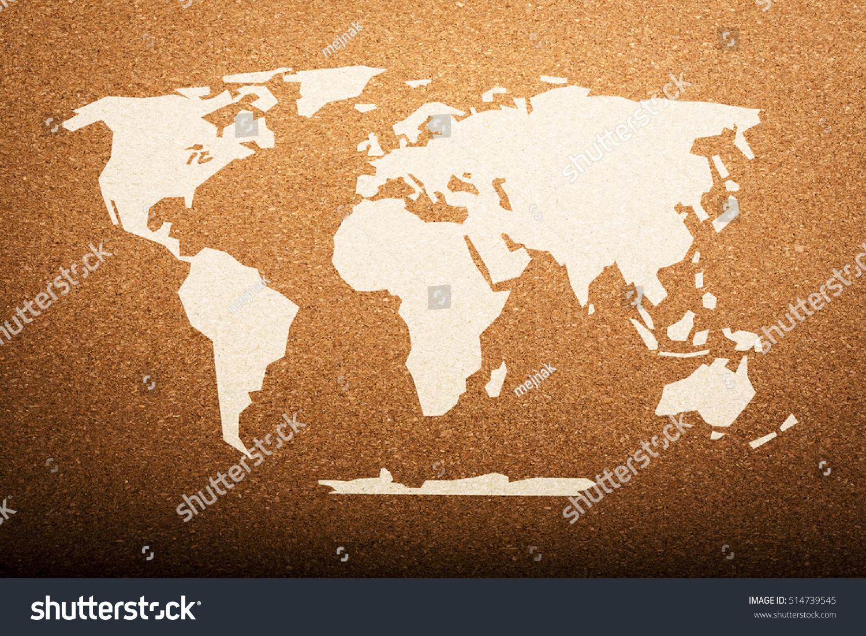 World map on cork board background stock photo 514739545 world map on cork board background gumiabroncs Choice Image