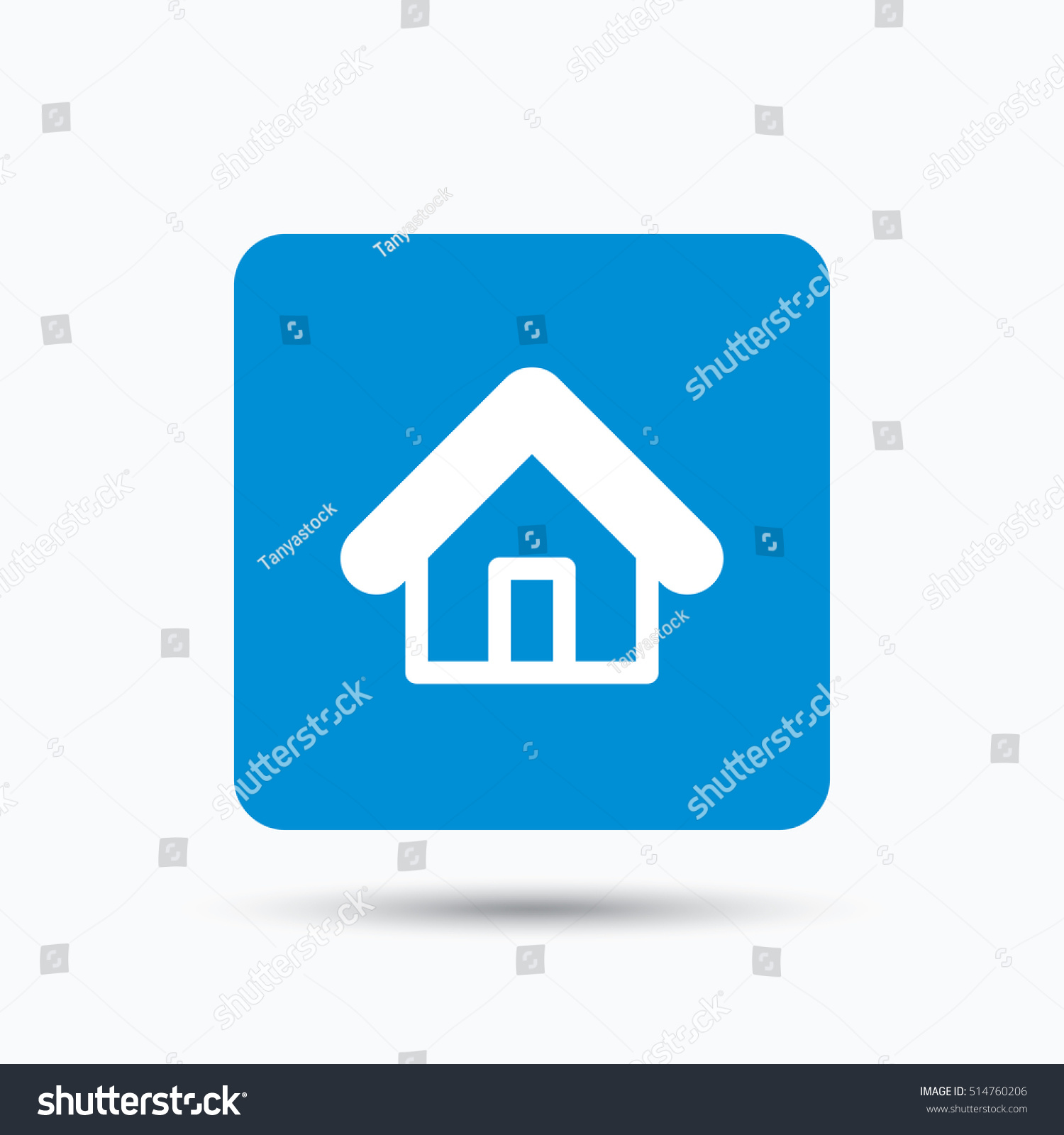 Home icon house building symbol real stock vector 514760206 home icon house building symbol real estate construction blue square button with flat biocorpaavc