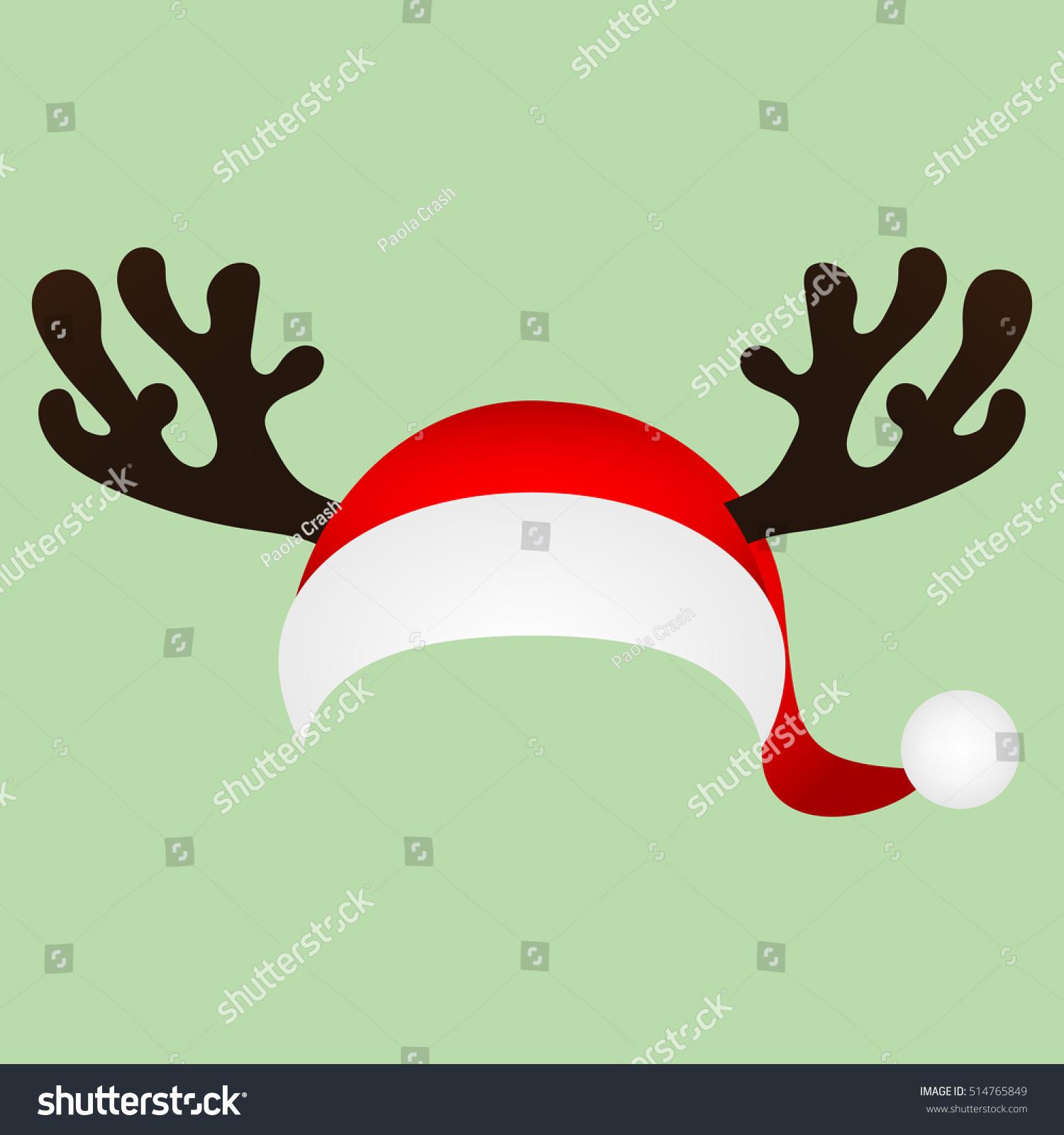 Template Fun Photo Santa Claus Hat Stock Illustration 514765849 ...