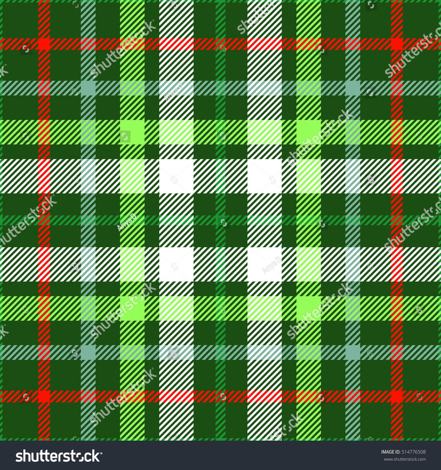 Tartan Plaid Seamless Tartan Plaid Pattern Christmas Color Stock Vector