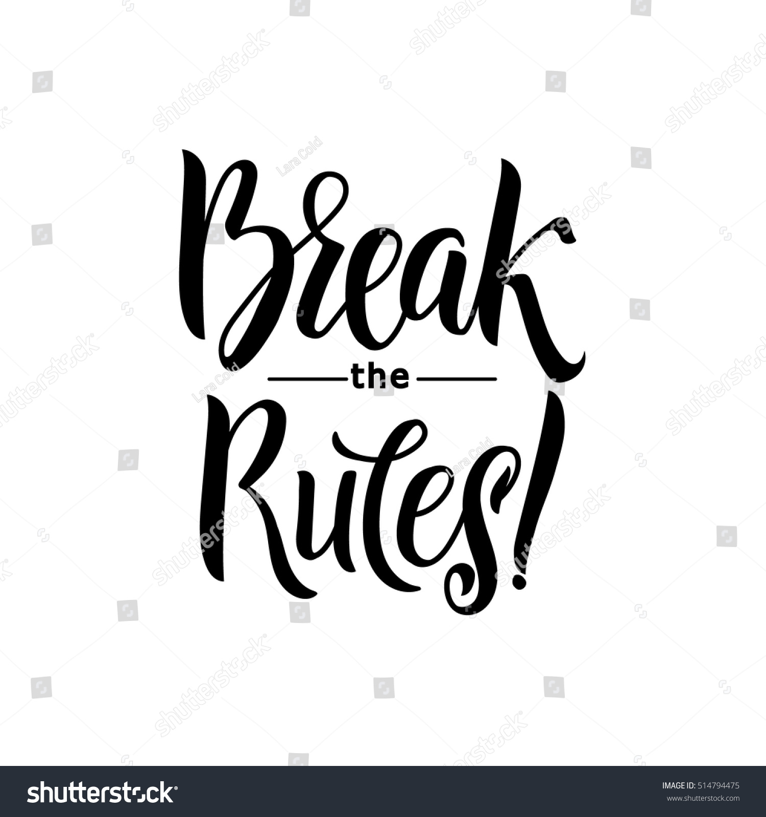 Break rules keep going hand drawn stock vector