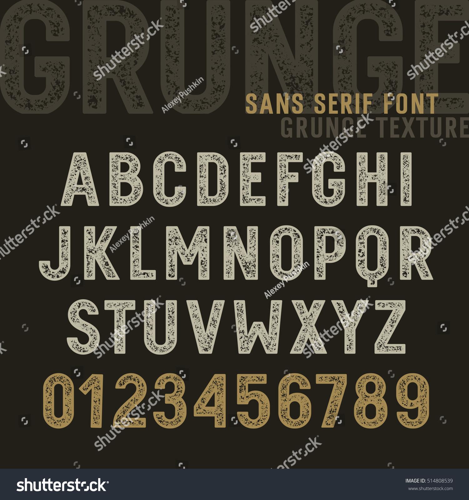 Vector de stock (libre de regalías) sobre Original Sans Serif Font