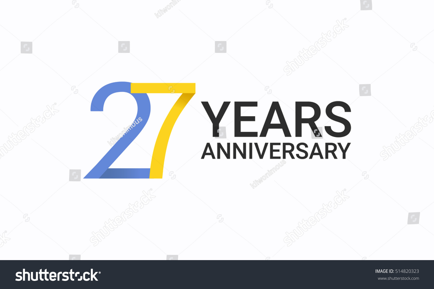 27 years anniversary birthday symbols signs stock vector 514820323 27 years anniversary birthday symbols and signs using flat and simple vector design template biocorpaavc Images