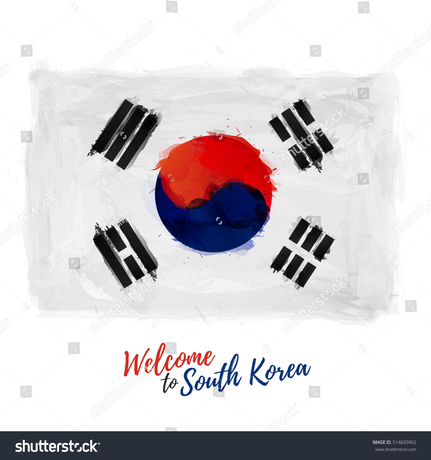 Korean poster design - Symbol Poster Banner South Korea Flag Flag Of Asian Republic With The Decoration