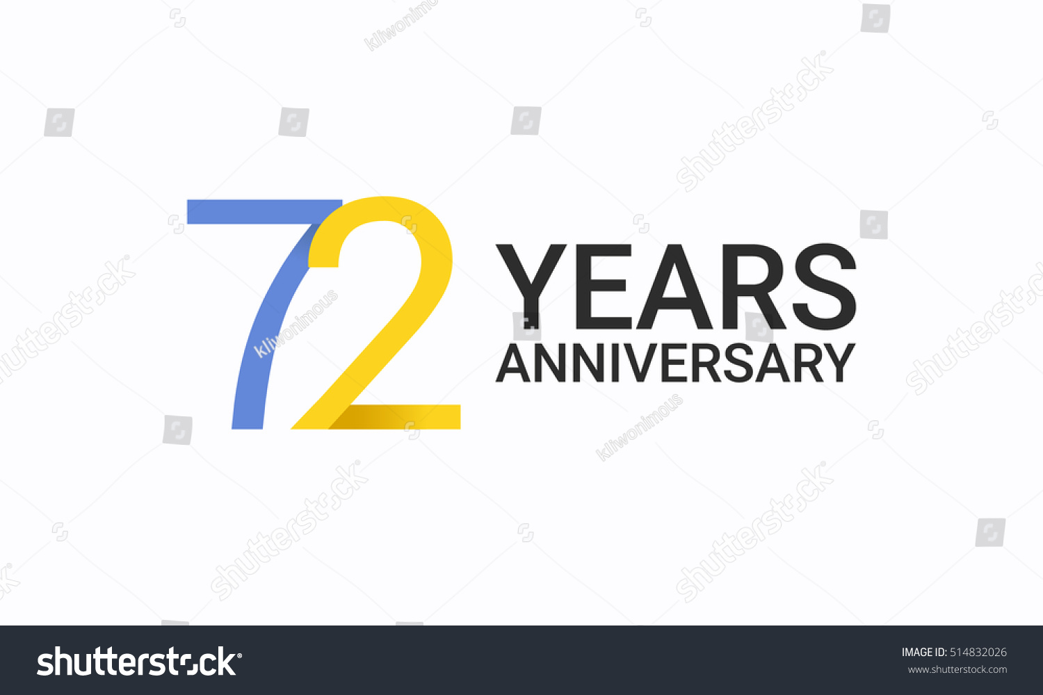 72 years anniversary birthday symbols signs stock vector 514832026 72 years anniversary birthday symbols and signs using flat and simple vector design template buycottarizona Gallery