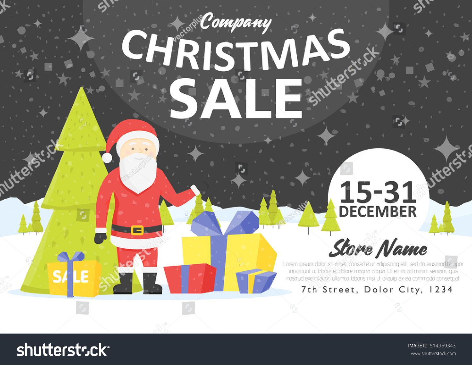 Sale Holiday Website Banner Templates Christmas Stock Vector (2018 ...