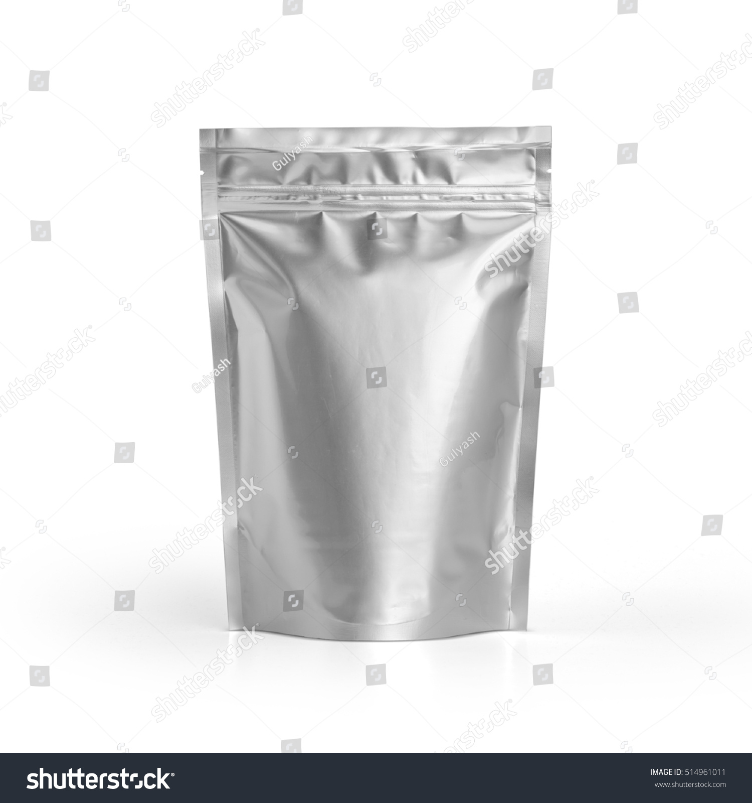 blank foil plastic pouch coffee bag stock photo 514961011 shutterstock. Black Bedroom Furniture Sets. Home Design Ideas