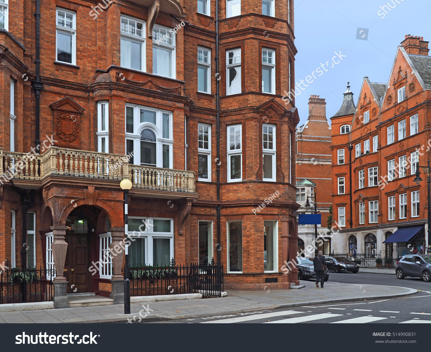 London Street Elegant Old Apartment Buildings Stock Photo ...