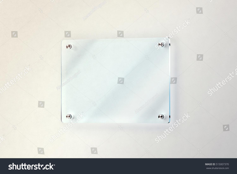 Blank Glass Door Plate Mounted On Stock Illustration 515007370