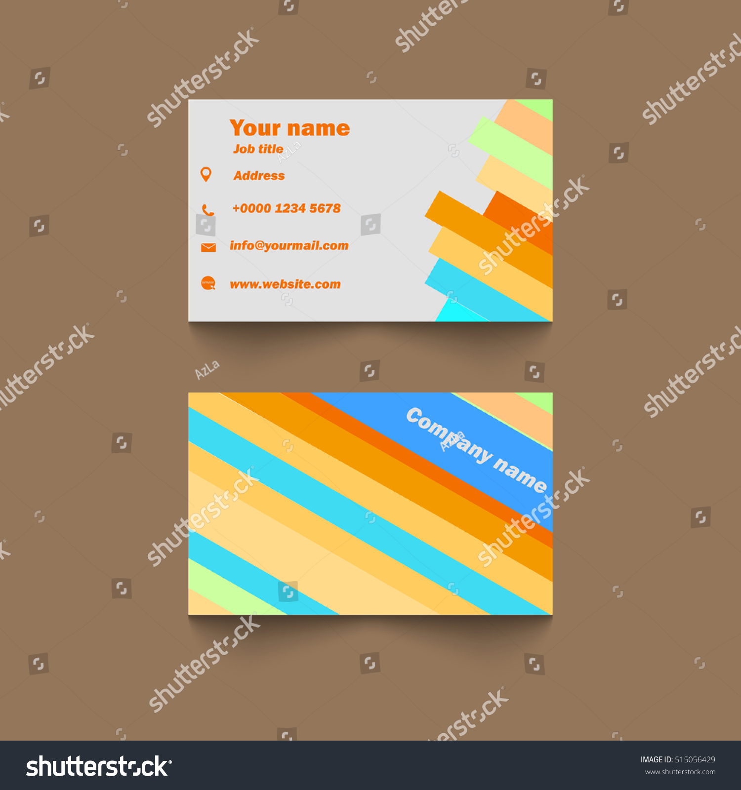 Vector Modern Creative Clean Business Card Stock Vector 515056429 ...