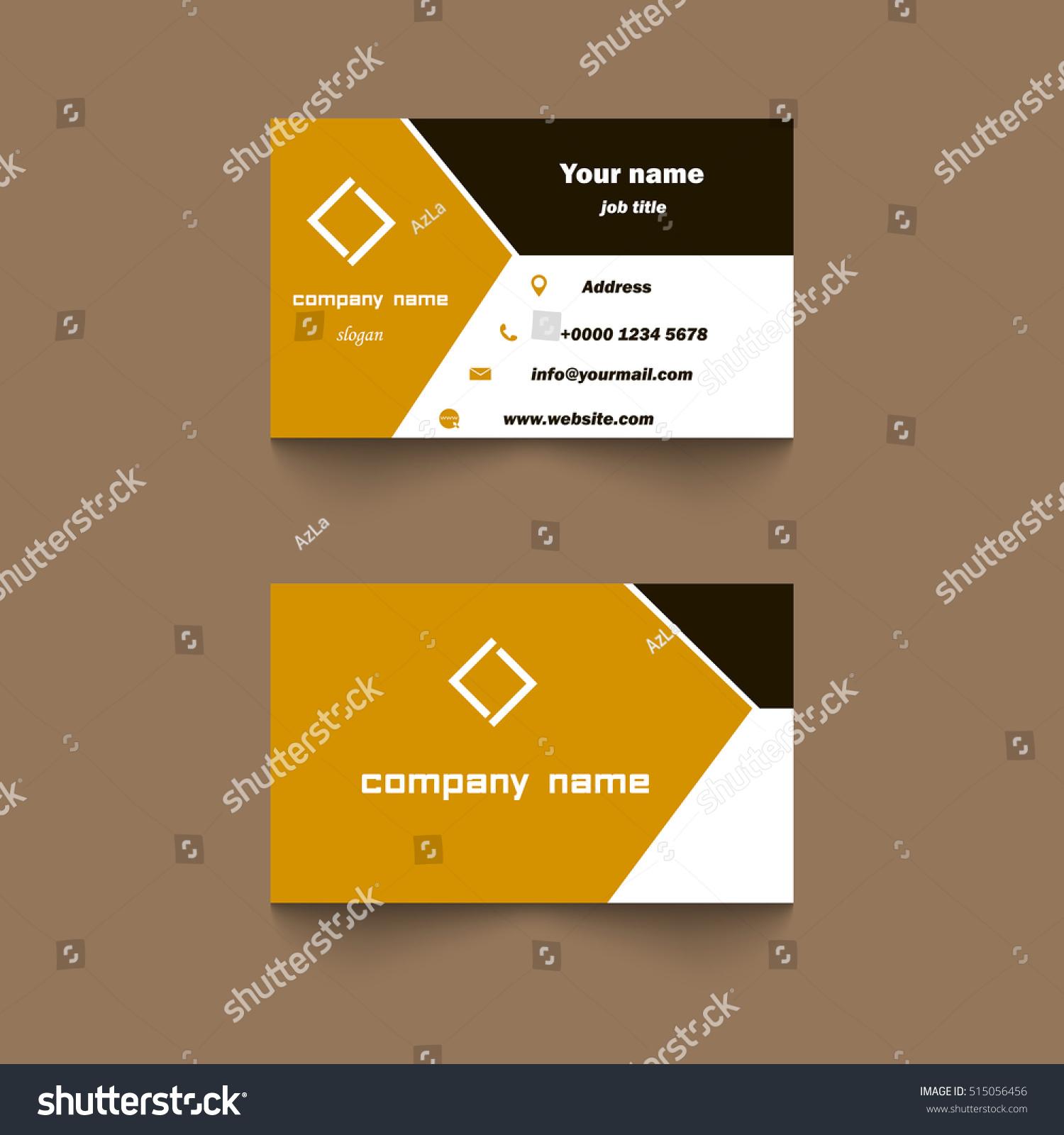 Vector Modern Creative Clean Business Card Stock Vector 515056456 ...
