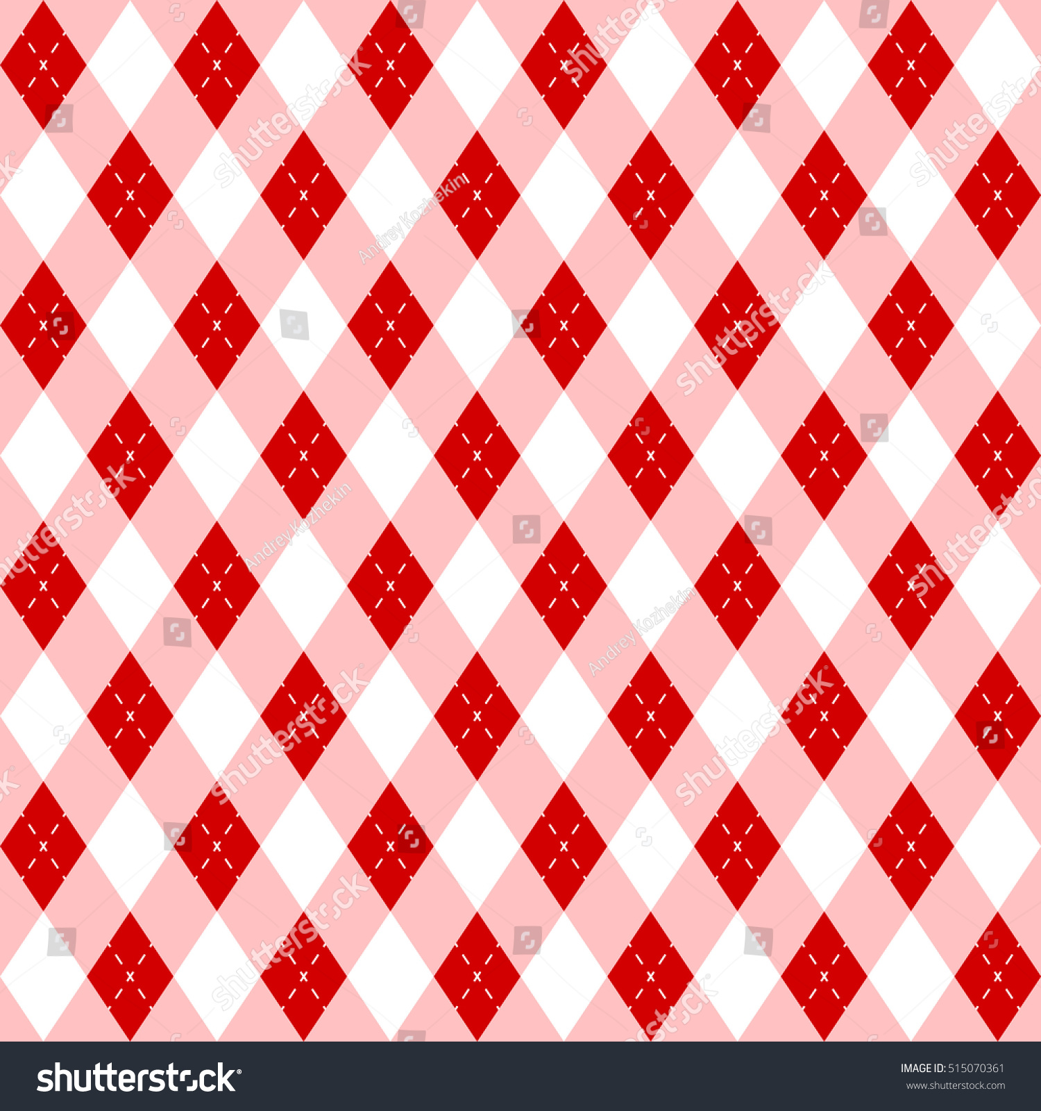 Christmas Seamless Wrapping Paper Pattern Rhombuses And Striped Lines Vector