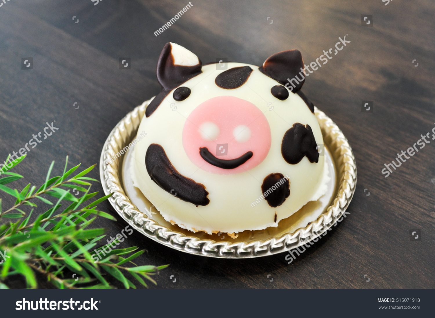 Cow Cakes Decorated On Wood Background Stock Photo Edit Now