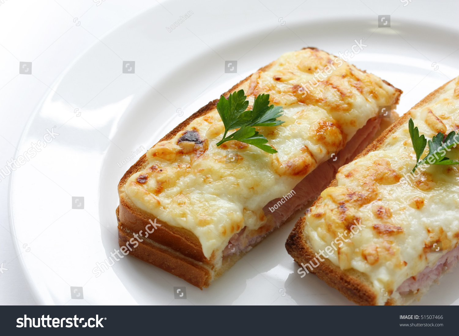 Croque Monsieur,Ham And Cheese Sandwich Stock Photo 51507466 ...