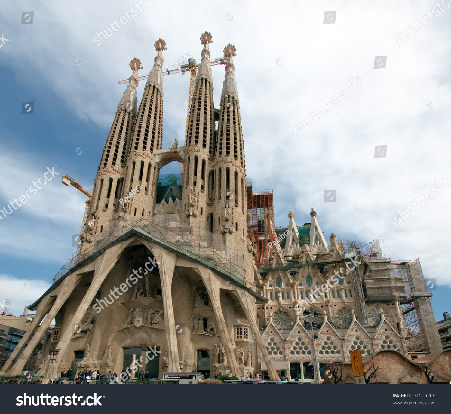 Barcelona spain february 22 la sagrada stock photo for Barcelona famila