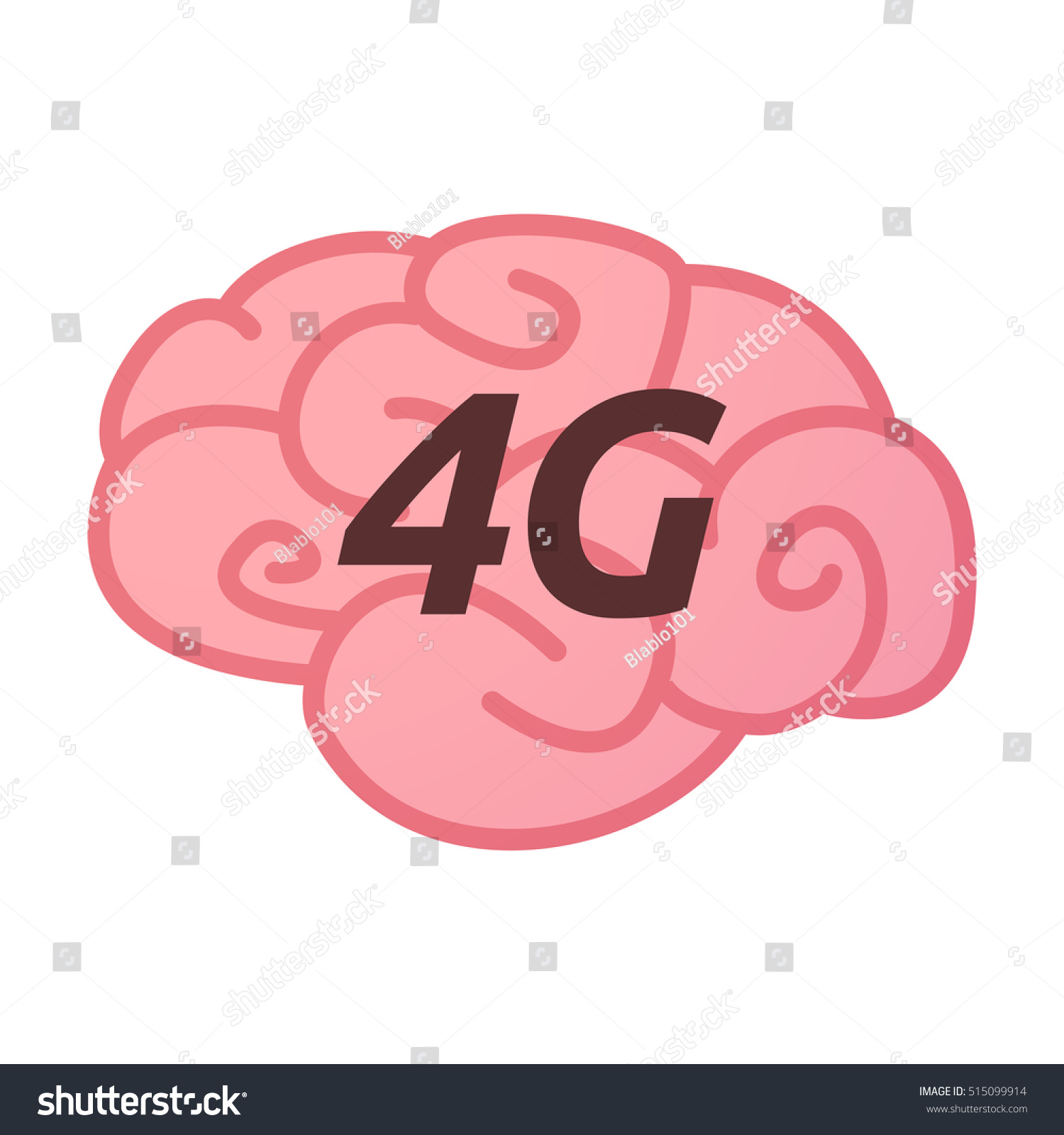 Illustration isolated brain icon text 4g stock vector 515099914 illustration of an isolated brain icon with the text 4g biocorpaavc Images