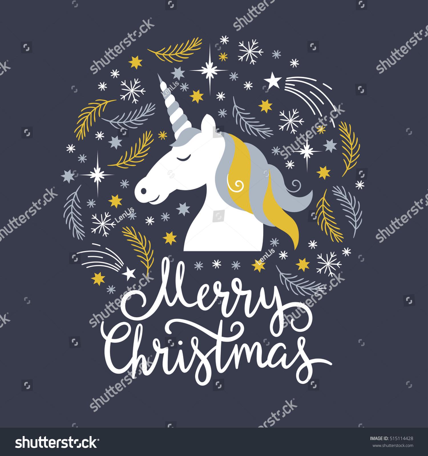 merry christmas unicorn gif