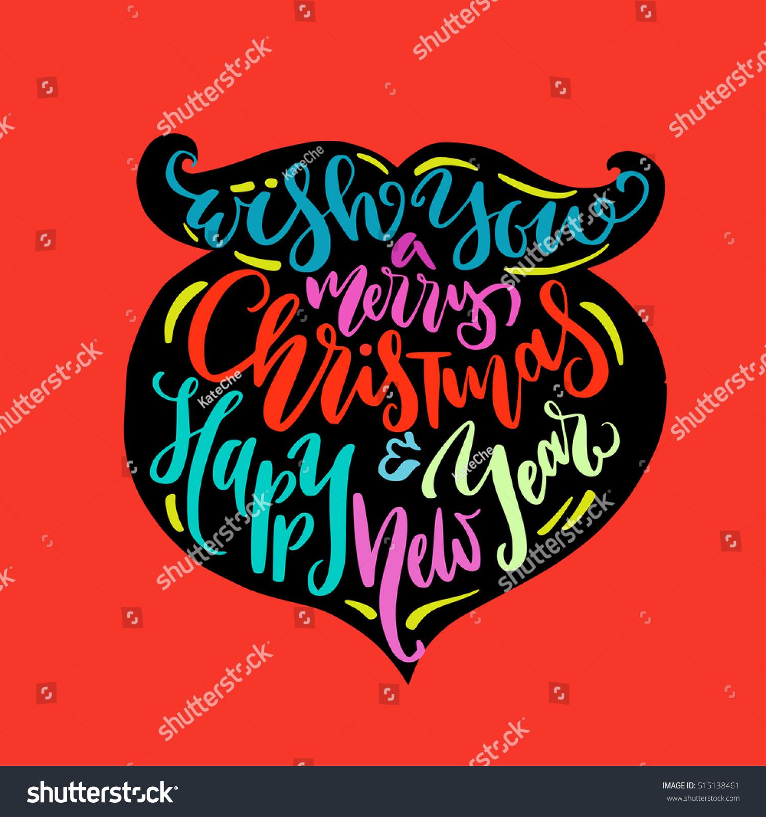 Christmas illustration beard silhouette calligraphy greetings stock christmas illustration beard silhouette calligraphy greetings stock vector 515138461 shutterstock kristyandbryce Gallery
