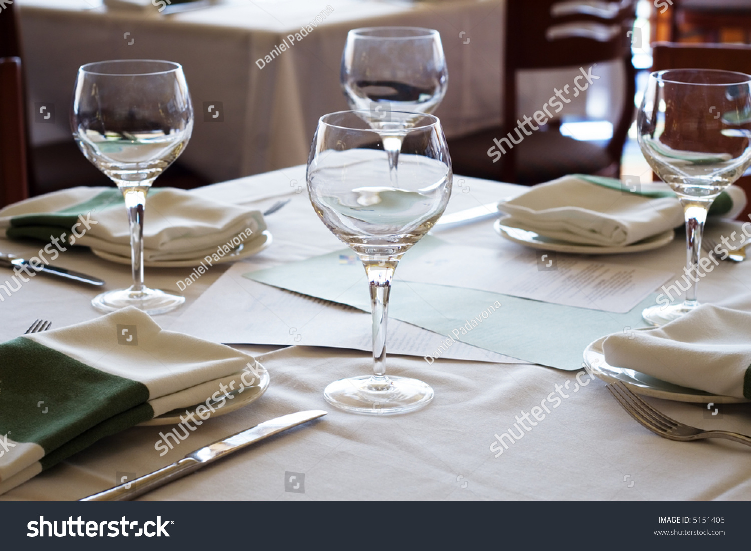 A Table Setting At A Fancy Restaurant.
