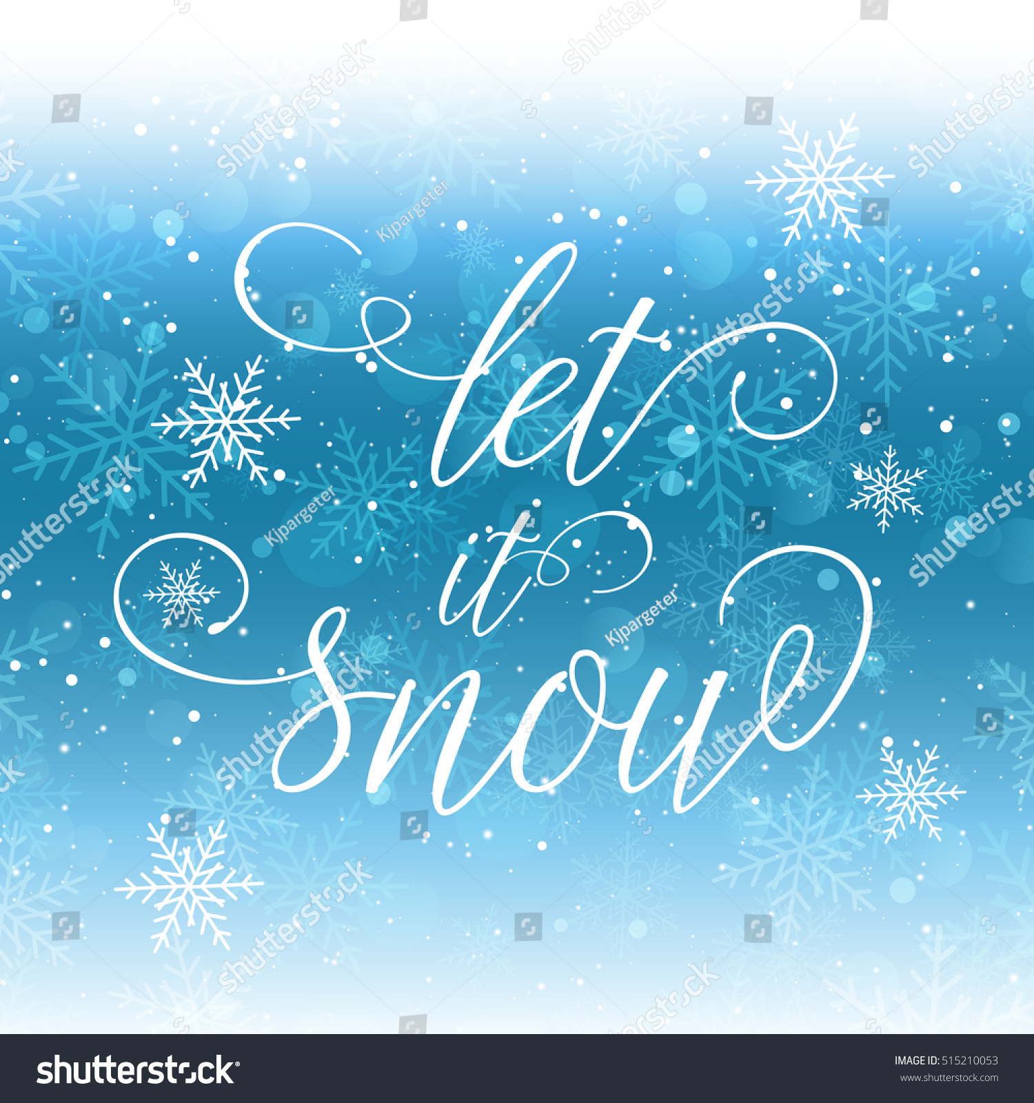 Christmas Background Let Snow Wording Stock Vector 515210053