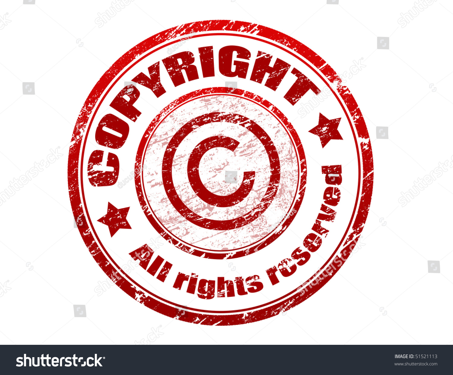 Red Grunge Rubber Stamp Text Copyright Stock Vector Royalty Free