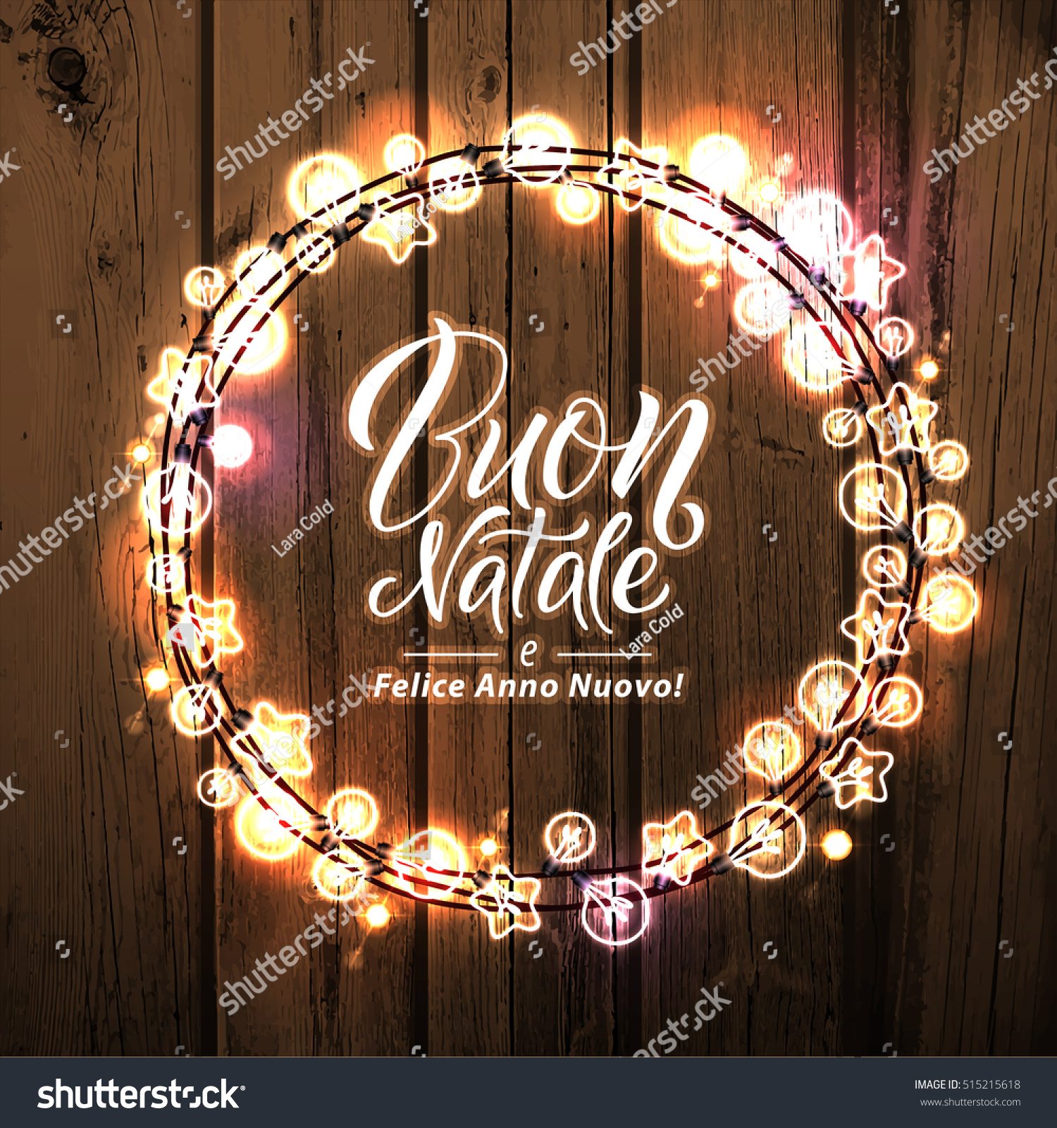 merry christmas and happy new year italian language glowing christmas lights wreath for xmas - Italian For Merry Christmas