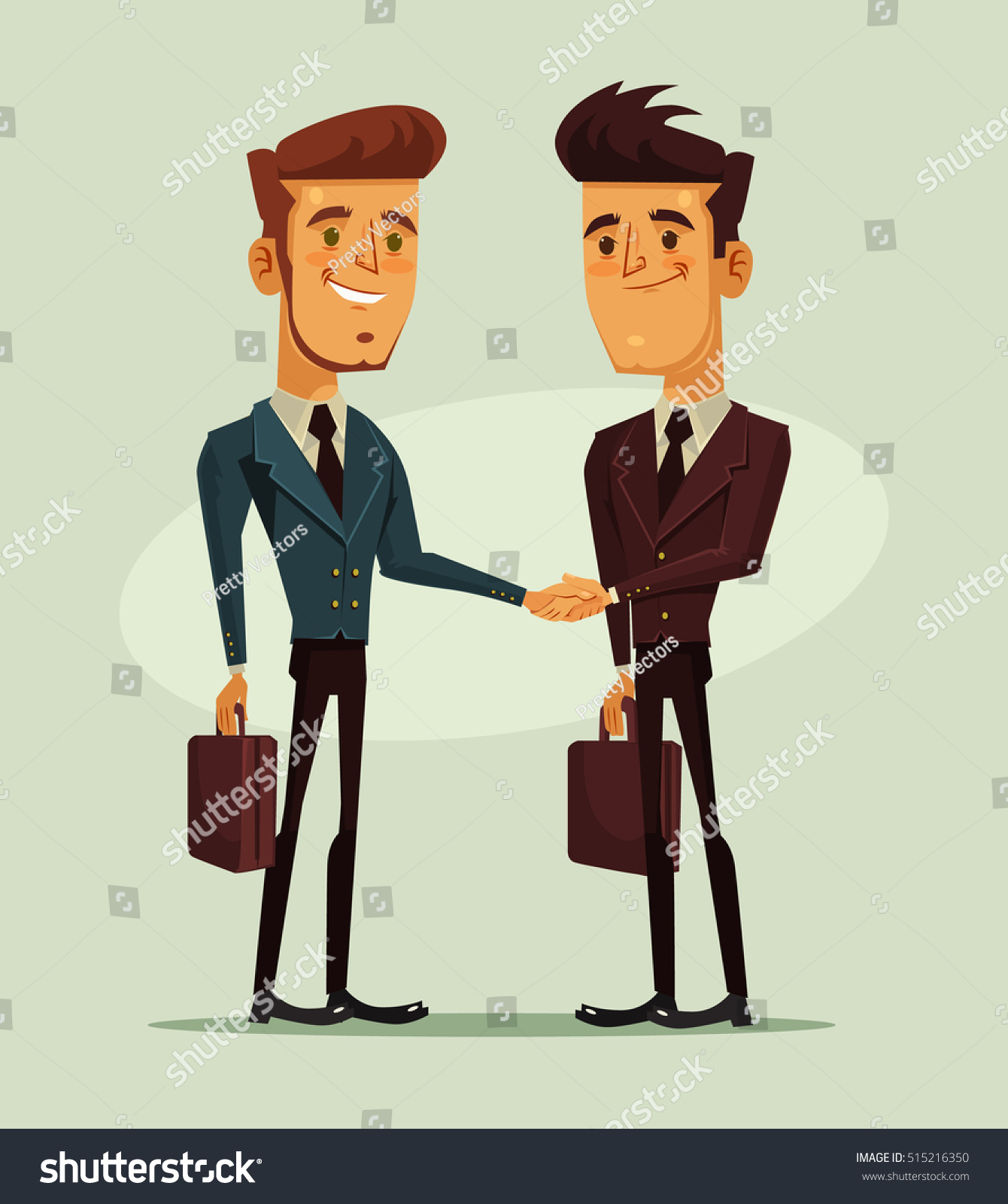 Business team cartoon characters cartoon vector cartoondealer com - Two Businessmen Characters Shaking Hands Business Financial Success Vector Flat Cartoon Illustration