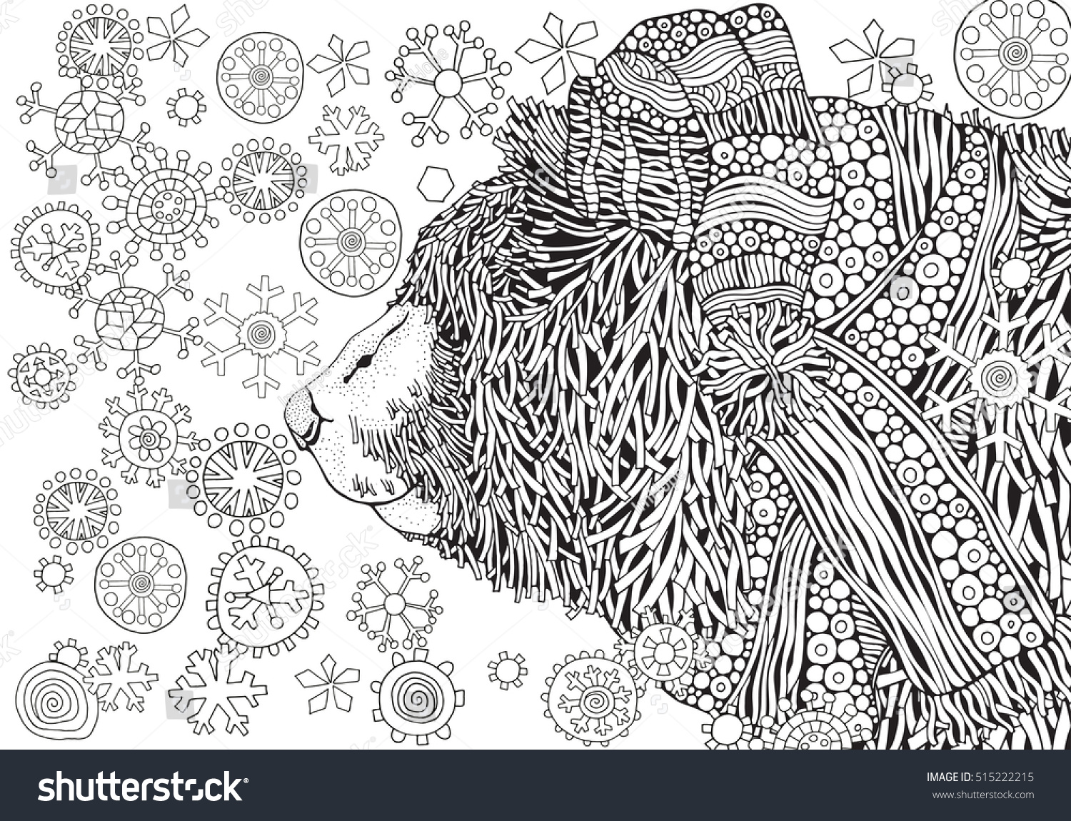 Cute Winter Bear Knitted Hat Scarf Stock Vector 515222215