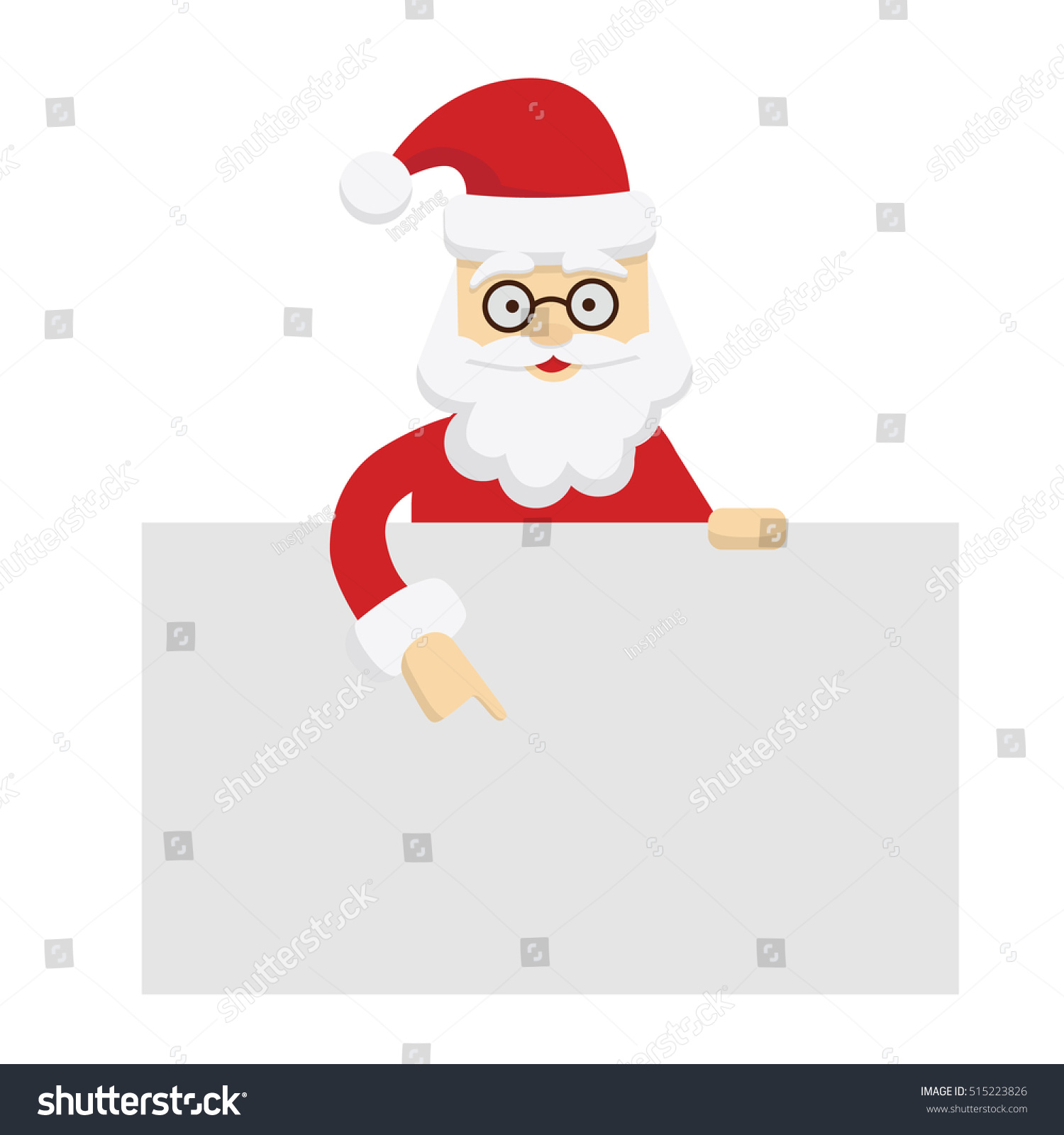 Santa Claus Template Isolated Santa Template Stock Vector (Royalty ...