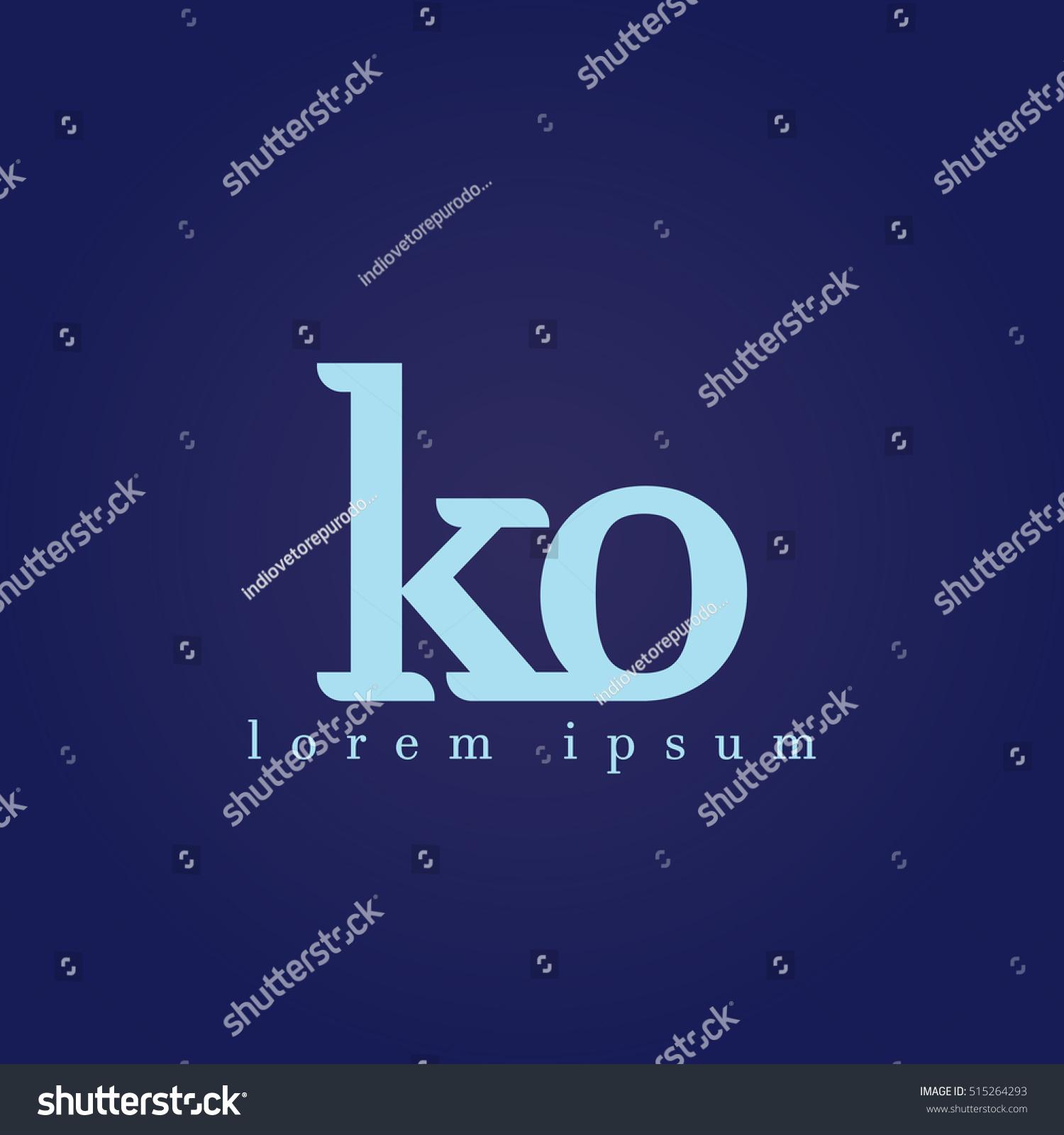 Ko stock symbol choice image symbol and sign ideas lowercase k o vector logo ko stock vector 515264293 shutterstock lowercase k and o vector logo ko buycottarizona