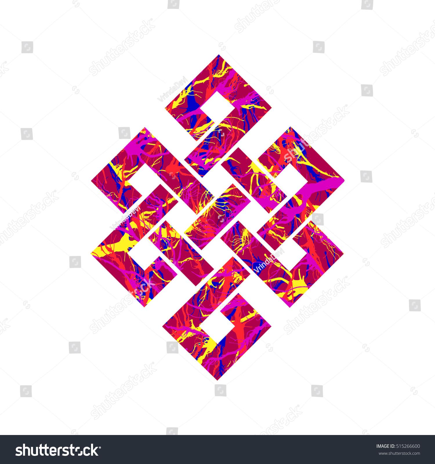 Eternity knot buddhist symbol vector illustration stock vector eternity knot buddhist symbol vector illustration colored textured eternity knot icon celtic irish pattern buycottarizona Image collections