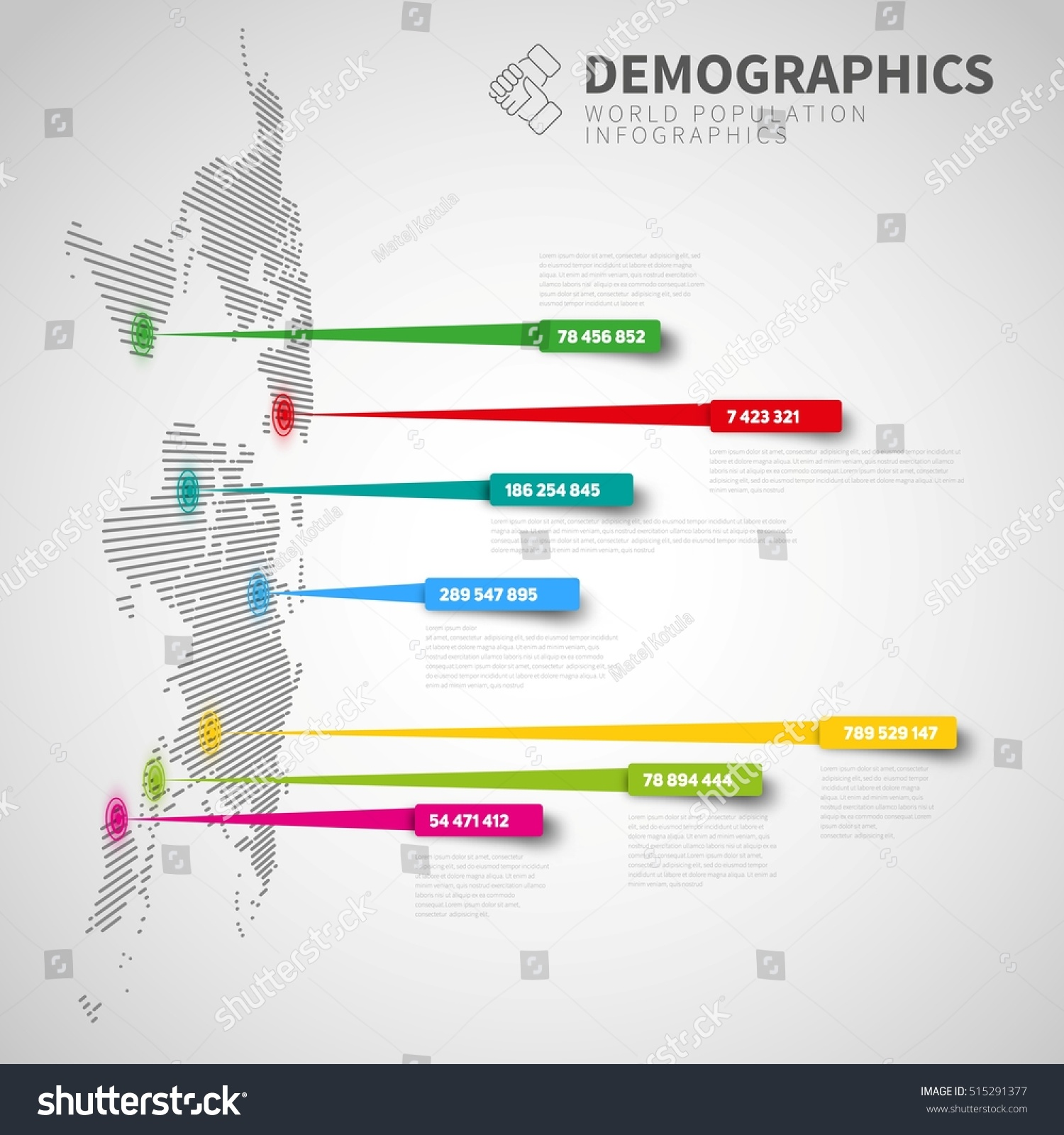 World map infographic template pointer marks vectores en stock world map infographic template with pointer marks light version design on the wall gumiabroncs Images