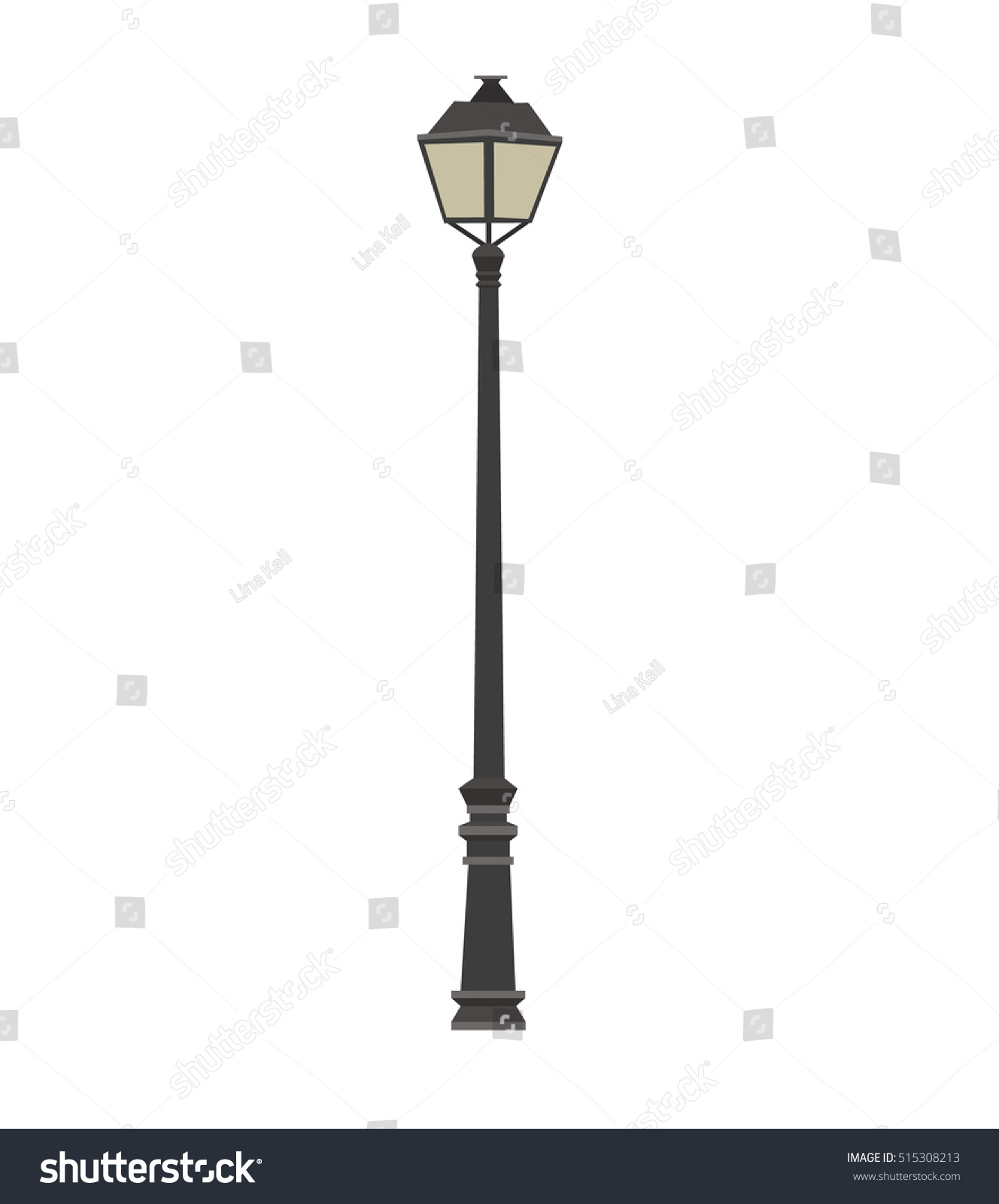 Lamp Lamppost Vector Illustration Street Lamp Stock Vector HD ... for Street Lamp Post Vector  45ifm