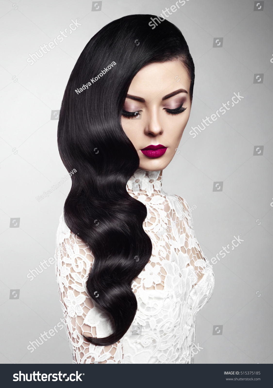 Fashion Studio Photo Beautiful Model Girl Stock Photo (Royalty Free ...