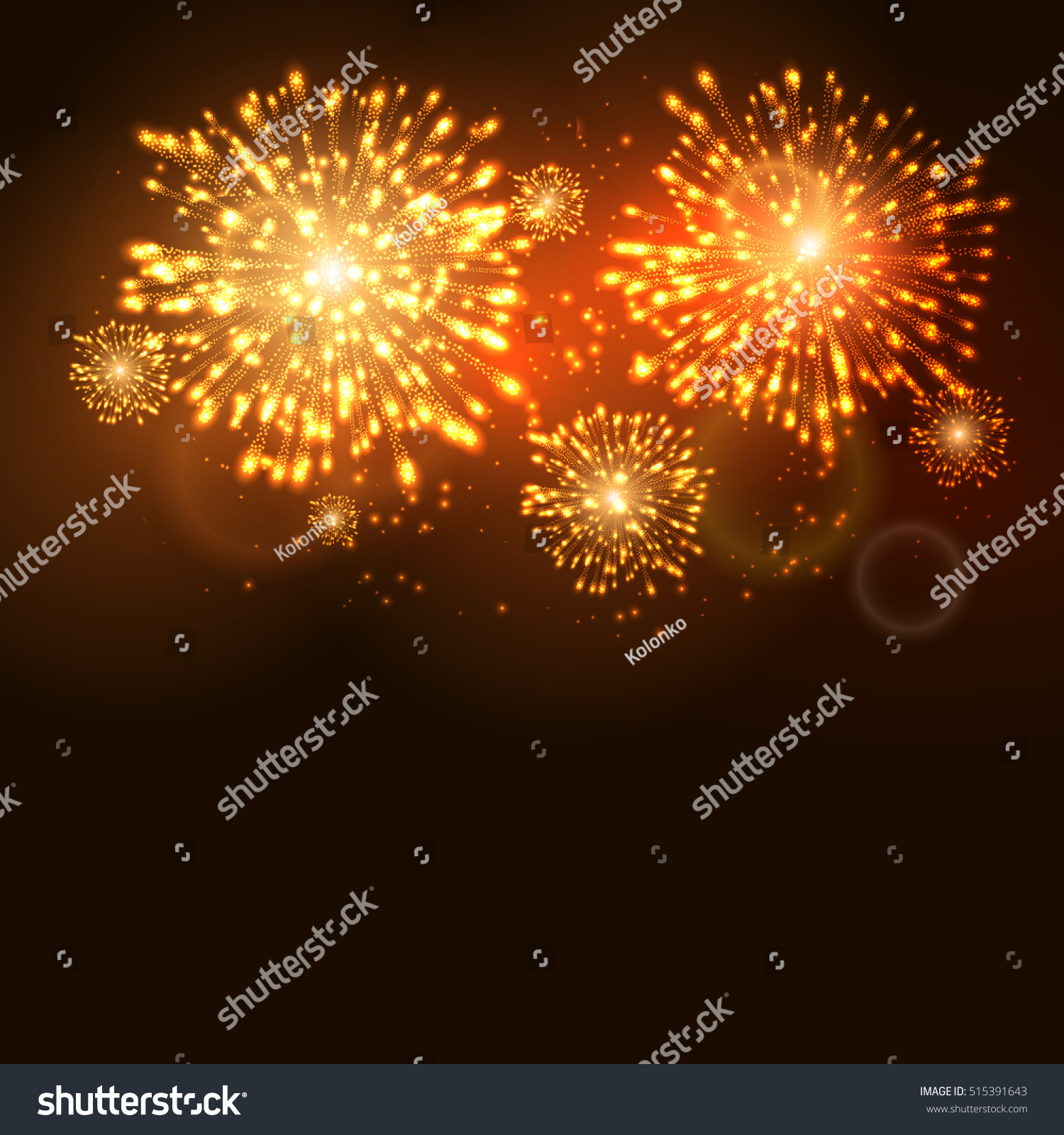 firework new year holiday celebration template stock illustration, Presentation templates