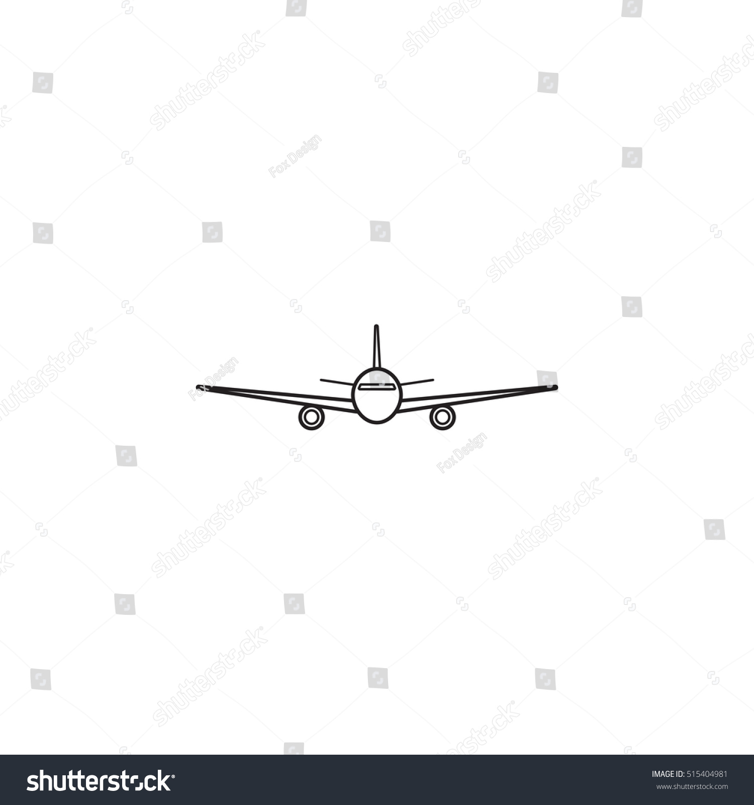 airplane icon transport aircraft symbol vector graphics a linear pattern on a white background eps 10
