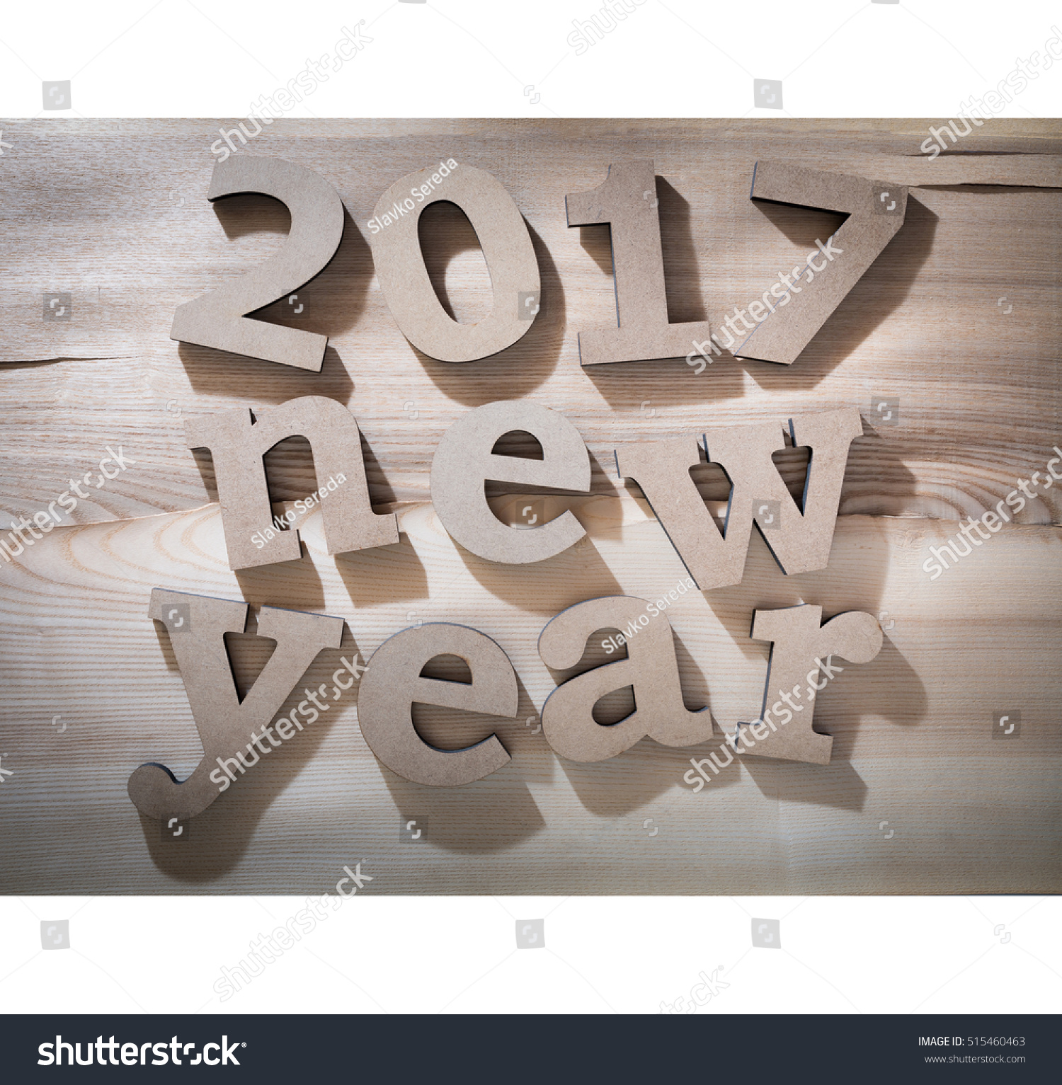 The Greeting Message 2017 New Year Composed Volumetric Letters On
