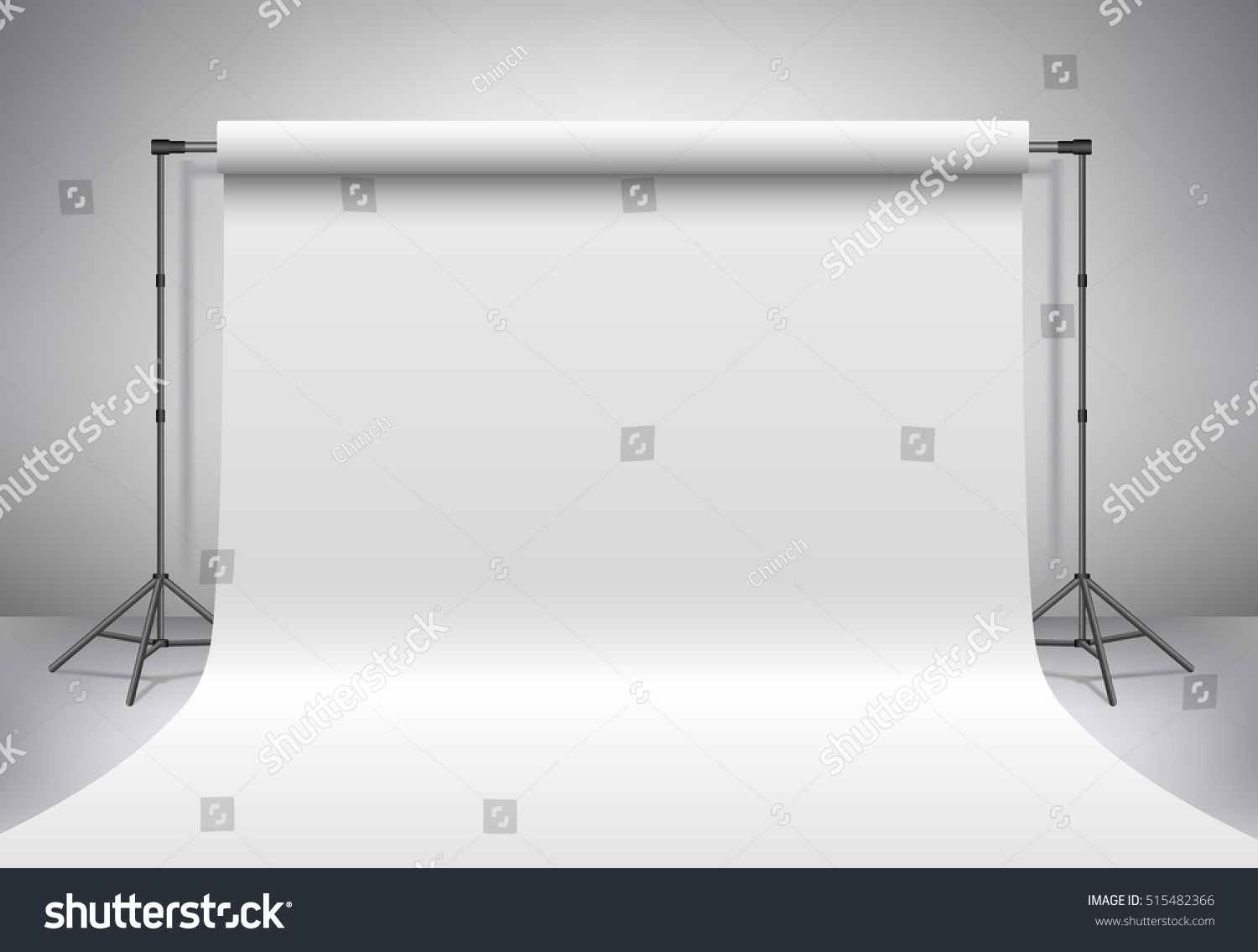 Download Free Mock Up Exhibition Stand : Empty photo studio realistic d template stock vector