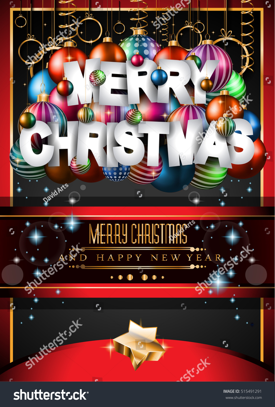 merry christmas background your seasonal invitations stock