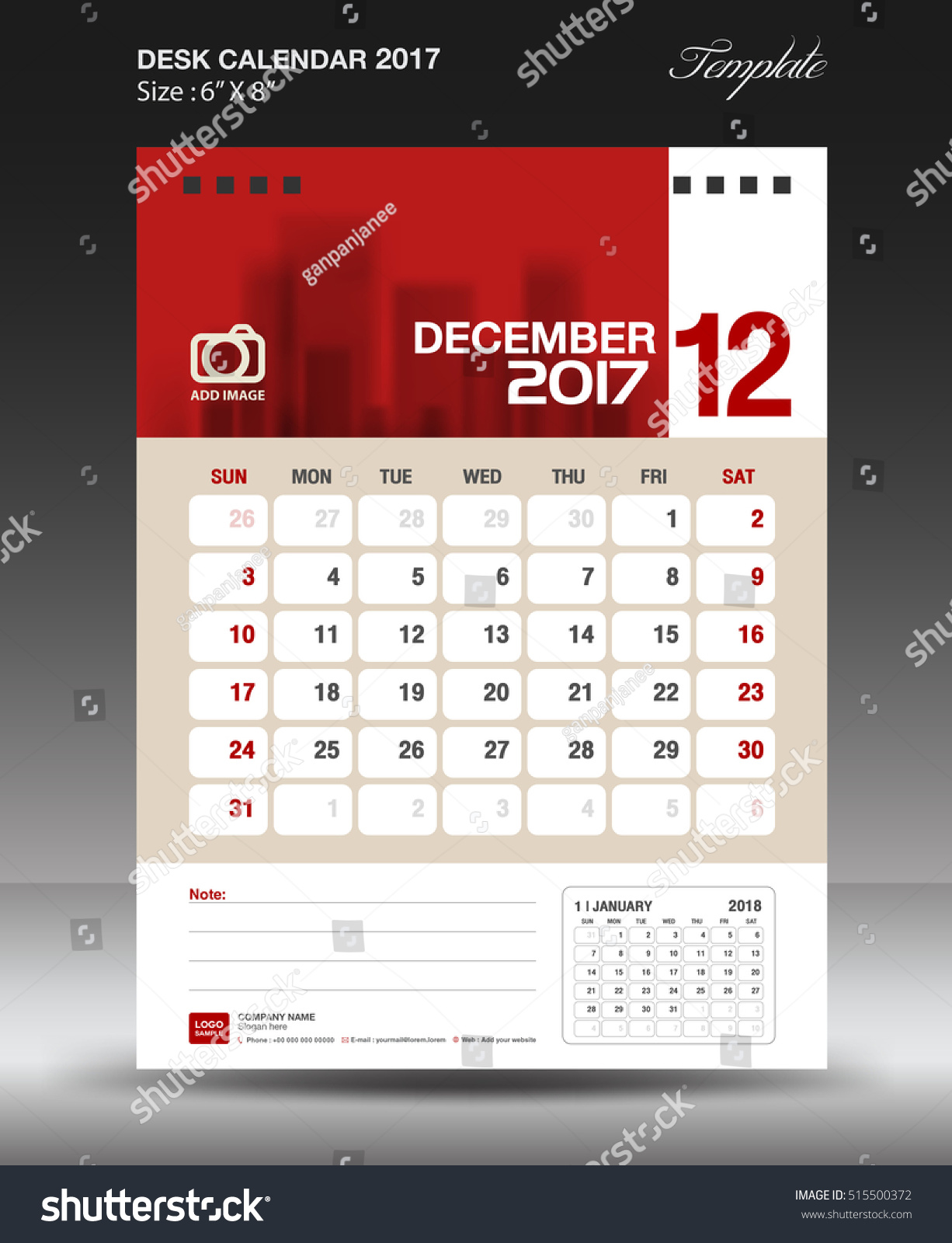 Calendar Design Size : December desk calendar year corporate stock vector