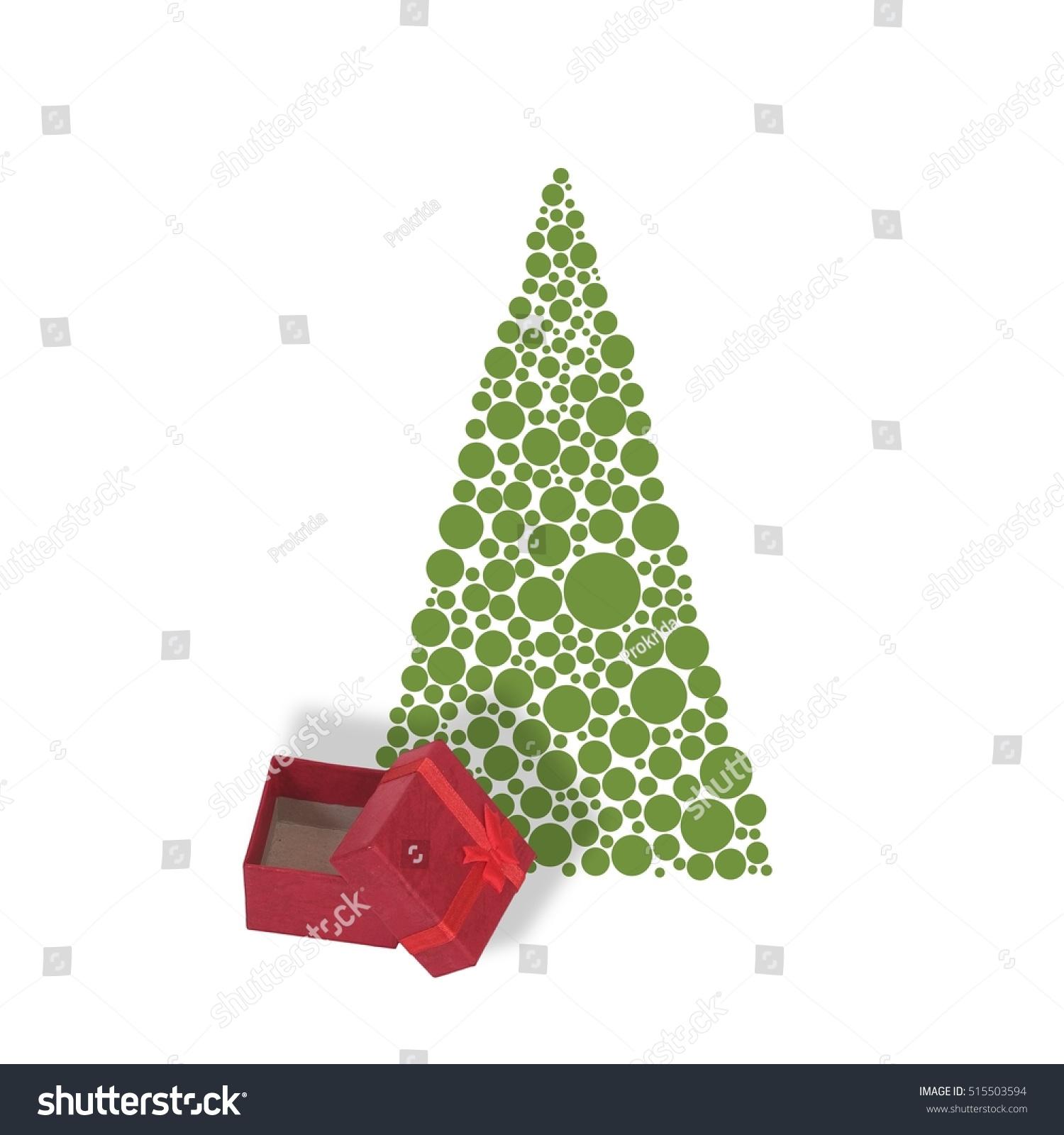 Modern Christmas Card Christmas Tree Gift Stock Photo (Edit Now ...